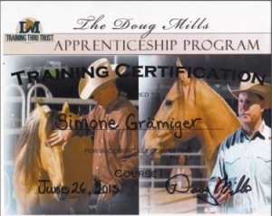 Angebot: Certificate Doug Mills Horsemanship Course 1