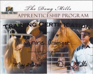 Angebot Certificate Doug Mills Horsemanship Course 2